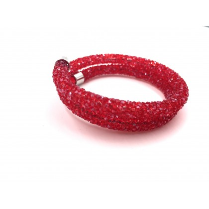 Bracelet crystal Double - Chili Red