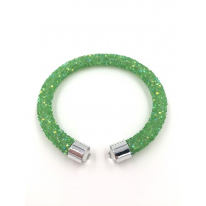 Bracelet crystal - Light Green (Single Layer)