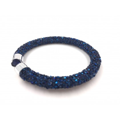 Bracelet crystal - Dark Blue (Single Layer)