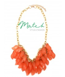 Necklace Elegant Orange Petals