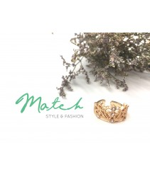 Gold love crown ring