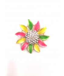 Brooch pin colourful sunflower